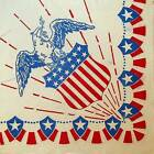 Eagle Red White Blue Patriotic Stars Stripes Shield Napkin USA 4th of July