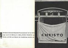CHRISTO - 1964 - Invitation Galerie SCHMELA - Dusseldorf