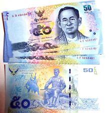 1 THAïLANDE thaïlandais 50 baht Billet Universel 2012 montrant les deux côtés du regretté Roi
