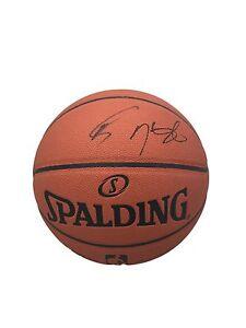 Stephen Curry & Kevin Durant Spalding Indoor/Outdoor Signed Basketball JSA