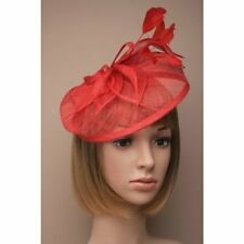 Red Headband Aliceband Hat Fascinator Weddings Ladies Day Race Royal Ascot