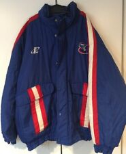NY Giants Football Jacket NFL Pro Line XL Vintage Warmup Blue Quilted Throwback