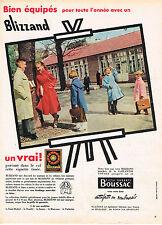PUBLICITE ADVERTISING 045  1956  BLIZZAND  manteaux imperméales enfants