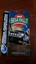 Sega Saturn Sega Rally Instruction Manual
