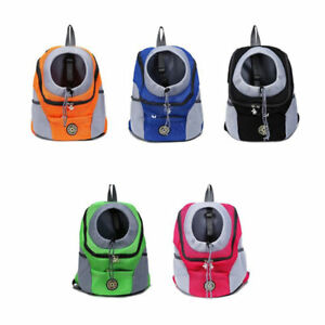 Puppy Kitten Outdoor Backpack Chest Bag Breathable Mesh Pets Outing  Carrying
