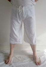 Medieval Braies - white cotton with drawstring waist, reenactment, SCA, LARP, UK