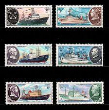 USSR RUSSIA STAMP/MNH-OG/1980. Full Set. Navires Soviétiques. Série complète.