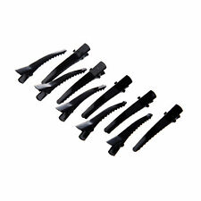 10 pcs Single Prong Alligator Pinch Cs with Teeth for Hair Bows Corker Black FP