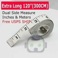 """120"""" Body Measuring Ruler Sewing Cloth Tailor Tape Measure Seamstress Soft Flat"""
