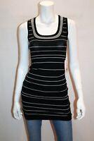 Body & Soul Brand Black White Stripe Knitwear Bodycon Dress Size S BNWT #SA117