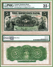 1925 $5 Dominion Bank of Canada in nice PMG VF25 (VF+) Condition