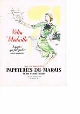 PUBLICITE ADVERTISING  1952 Vélin Médaille   Pierre PAGES  PAPETERIES DU MARAIS