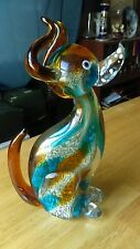 Expressive Murano Dog Glass Paperweight Canine Sculpture