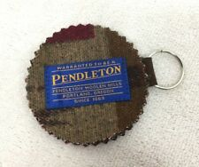 Pendleton Wool Oregon Keychain New Never Used Brown & Blue Wool 3 Inches