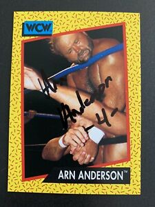 WWF WWE WCW 1991 Impel Trading Card Arn Anderson SIGNED rare
