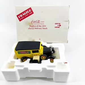 VTG Danbury Mint 1931 Ford Coca Cola Delivery Truck 1:24 Scale Diecast Yellow