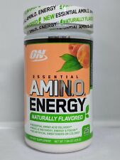 Optimum Nutrition Amino Energy Peach Tea 25 Servings 7.9oz Naturally Flavored