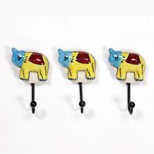 Iron & Ceramic Tile Hanger Hook For Cloth Hanging Key Hanger Set of 3  LHR -0024
