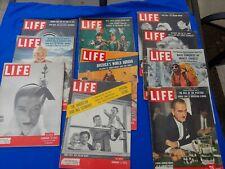 LIFE Magazine lot 1950s vintage ads starlets, politics, fashion 10 issues
