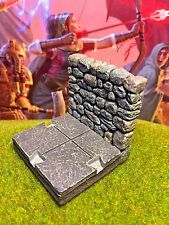 "2"" x 2"" painted Dungeon Room Wall / Hall L D&D Dwarven Forge Master Maze terrain"