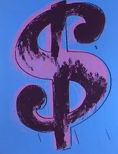 ANDY WARHOL DOLLAR BLUE SUNDAY B.MORNING SCREENPRINT LIMITED ED 153/1000 COA