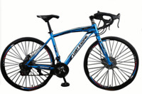 "Road Bike 21 Speed Bicycle 66 cm 26"" Inch Wheel Blue, front & Back DIsc Brakes"