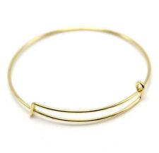 2 Pcs Fashion Gold Tone Expandable Wire Charm with pendant Bracelet Bangle