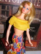 Vtg RARE Platinum Blonde BARBIE PROTOTYPE ? Mod Head Busy Holding Hand Baggie ??