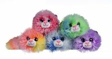 "9"" Neon Arcobaleno colorato morbido peluche peluche cookie Gatto Kitty Kid ragazze TEDDY TOY"