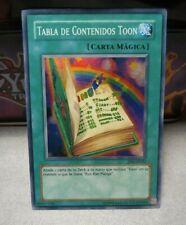 Yugioh Tp6-sp002 Tabla De Contenidos Toon (tp6-en002 toon table of contents) MP