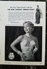 1953 Life by Formfit women's strapless bra girdle fashion ad