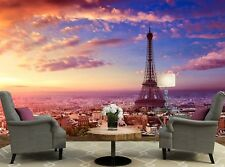 Paris Eiffel Tower  Photo Wallpaper Wall Mural DECOR Paper Poster Free Paste