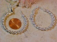 Chain Style Dangle Earrings Usa Tx X-114 Gorgous Stunning 925 Sterling Unique