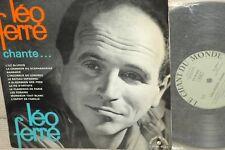"""LEO FERRE*Léo Ferré chante  L.F*ORG 10 """" CHANT DU MONDE 10 """" MONO"""