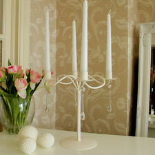 Cream ivory candle candelabra table wedding centre piece chandelier