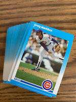 (50) Greg Maddux 1987 Fleer Rookie Card U68 NR-MT+ Chicago Cubs Lot