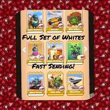 Coin Master Full Sand Land Set (All 7 Whites) Martian Lettuce Etc (FastDelivery)
