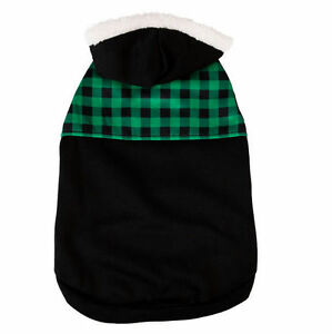 Bret Michaels Pets Rock Pet Holiday PLAID FLEECE HOODIE Pullover Style X-Small