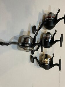 Lot Of 4 Zebco Underspin Fishing Reels Omega 154 And 33
