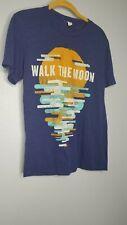 Mens S Walk The Moon Blue Band Tour T Shirt 2014