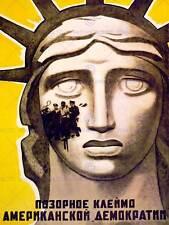 I diritti civili politica UNIONE SOVIETICA URSS Statua liberty art print poster cc1717