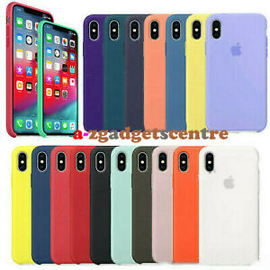 For iPhone 12 Pro 11 Pro X XR XS Max 8 Plus Genuine Original Silicone Case Cover
