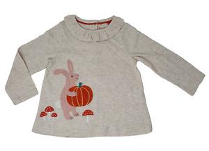Ex Baby Boden Tunic Top Rabbit Pumpkin Design Halloween Newborn - 4 years New