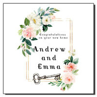 Personalised New Home Card Floral New House