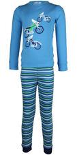 MiniZZZ Police Motorbike Cotton T-Shirt / Long John  Pyjama Set Blue (5)