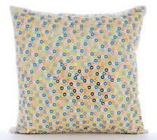26x26 inch Euro Size Pillow Sham Designer Linen White, Dotted - Color Carnival