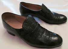 vintage 70's MAURI polished  ALLIGATOR CROCODILE croc leather loafers shoes 12