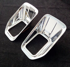 FIT FOR FORD F-150 CHROME FRONT HEAD FOG LIGHT LAMP COVER TRIM BUMPER MOLDING
