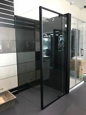 Shower Screen Matte Black Semi Frameless Pivot Door 900 1000 1200 x 2000mm High