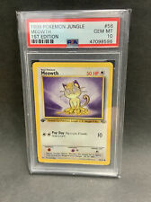 1999 Pokemon Jungle 1st Edition Meowth #56/64 Graded PSA 10 Gem Mint INVEST